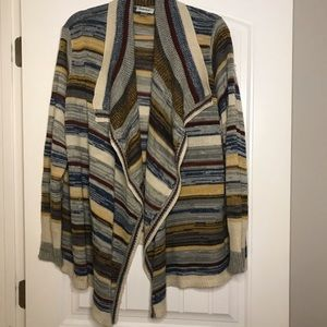 Multi color plus size cardigan
